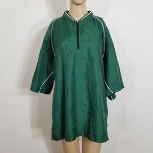 Mizuno Green Windbreaker Warm-up Vented Jacket XL